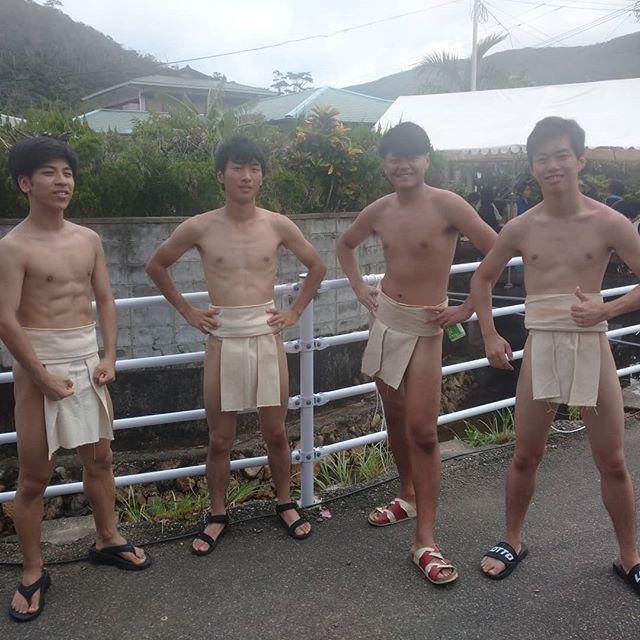 西阿室豊年祭東海大学の学生達も相撲に参加してくれました#加計呂麻島#民宿南龍#西阿室#豊年祭